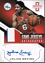 2013-14 Panini JULIUS ERVING Innovation Game Jerseys Autographs Prime Patch 7/10 - Panini Certified - Basketball Autographed Cards