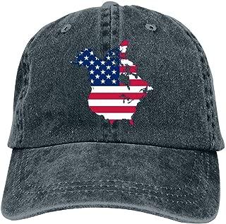 Badye 1812 American Flag Clipart Popular Denim Hat Attractive Cap for Men and Women