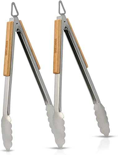 Dropkick-Your-Old-Tongs,-GRILLHOGS-12-Inch-2-Pack-Barbecue-Tongs