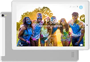 Tablet 10.1 Pulgadas 4G Dual SIM /WiFi Tableta 3GB de RAM 32GB de ROM Android 8.0 Quad-Core Batería 8000mAh Bluetooth/GPS/OTG Tablets-Plata
