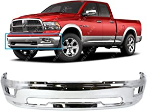 MBI AUTO - Chrome, Steel Front Bumper Shell Face Bar for 2009-2012 Dodge RAM 1500 Pickup W/Fog Light Holes 09-12, CH1002386