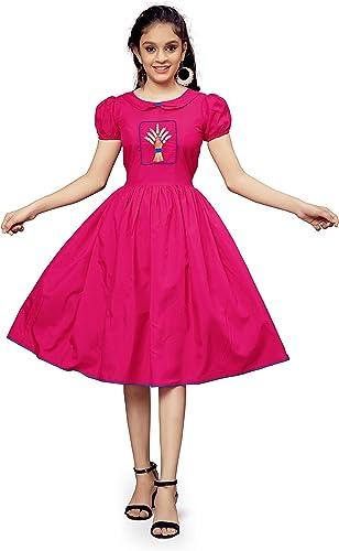 Girl s Knee Length Dress Nariyeli