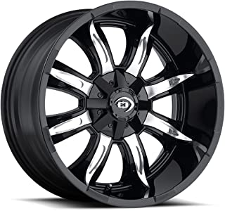 VISION OFF ROAD MANIC Wheels/Rims 20x10 inch 165.1 ET-25 C/B 83 Gloss Black Machined Face
