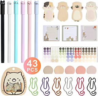 Black Ink Gel Pens, 6 Pack Cute Pens Japanese Kawaii Cat Gel Pens, Ultra Fine Point 0.38mm Fine Tip Pen Set Rollerball Pens for Stationary School Office Supplies, Great Art Crafts Scrapbooks Binder Clips Paper Clips, Sopito 300pcs Colored Office Clips Set with Paper Clamps Paperclips Rubber Bands for Office and School Supplies, Assorted Sizes Bliss Collections Daily Plannerwith50 Undated8.5 x 11 Tear-OffSheets-You'veGotThisCalendar,Organizer,Scheduler, ProductivityTrackerforOrganizingGoals,Tasks,Ideas,Notes, To Do Lists Zebra Pen Z-Grip Retractable Ballpoint Pen, Medium Point, 1.0mm, Black Ink, - 18 Pieces, Model Number: 22218 Cute Cat Ink Pen&6 Color Cat Paper Clips and Silhouette Cat Sticky Notes,Page Flags Index Tabs,Funny Cat Stickers,Special Notepads Set Home Office School Stationary Cat Lover Gifts