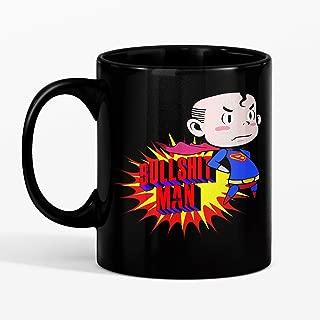 SAYOMEN - Bullshit Man - Karl Pilkington T Shirt MUG 15oz Unique coffee mug, Ceramic coffee mug, Gift for Men or Women, Funny Mug, Dad Birthday Gift
