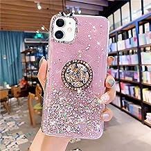 Uposao Compatibel met iPhone 11 Hoesje Meisjes Vrouwen Bling Glitter Sparkle Stars Leuke Slanke Zachte Siliconen Clear Rub...