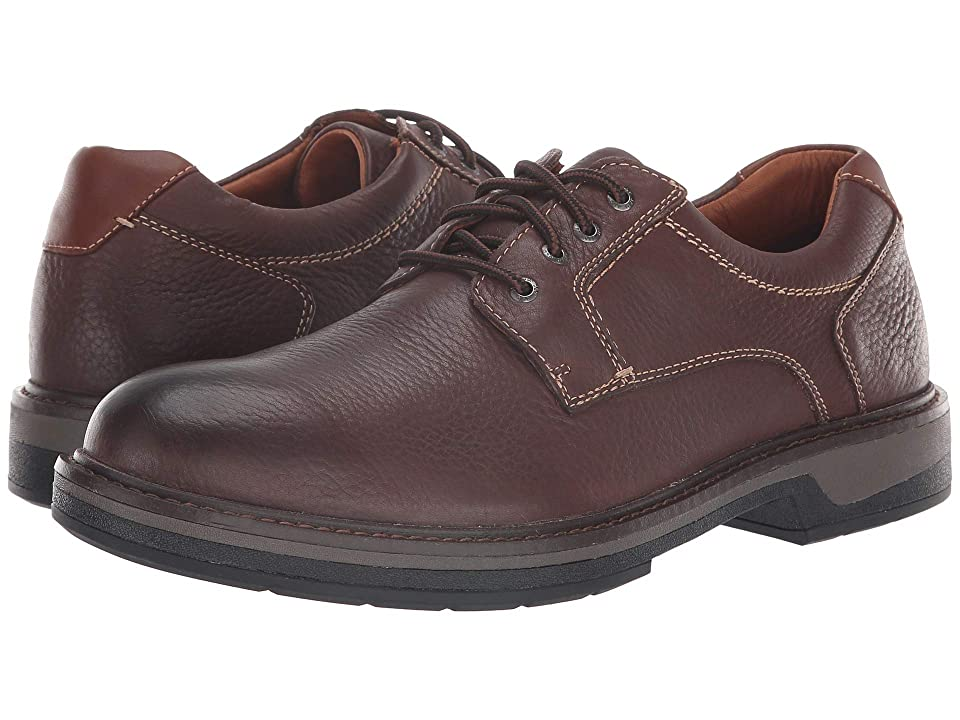 Johnston & Murphy Waterproof Rutledge Plain Toe (Brown Waterproof Tumbled Full Grain) Men
