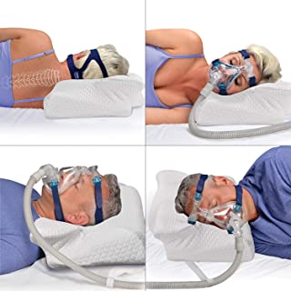 CPAP Pillow for Side Sleepers,Back and Stomach Sleepers, Alleviates Leaking, Reduces Noise