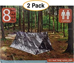An American Company 2 Pack - Emergency Survival Shelter Tent   2 Person Thermal Shelter   All Weather Tube Tent   Reflective Material  Lightweight   Waterproof Camping Gear