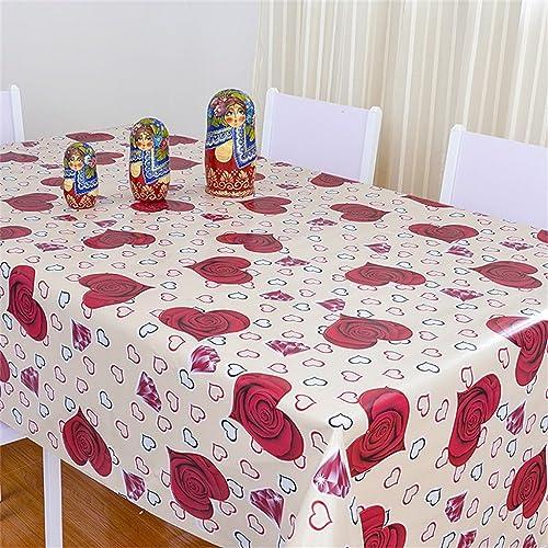 LHL-ZQ Tischdecke, wasserdichtes PVC-Speisetisch-Tuch, Nicht-saubere Tabellen-Matten, Kaffeetisch-Tuch-Tuch, Plastiktuch (Farbe    9, Größe   137  182cm)
