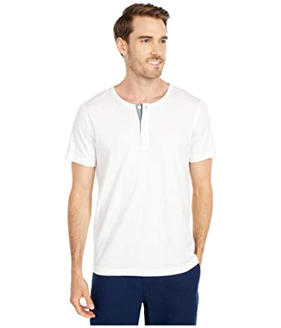 The Normal Brand Slub Short Sleeve Henley (White) Men