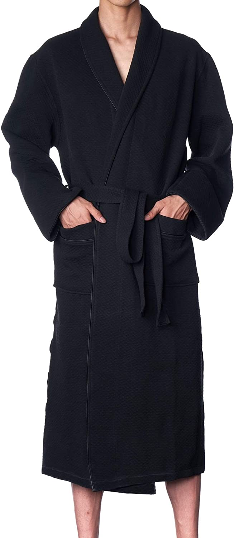 Alpine Swiss Gavin Mens Lightweight Cotton Robe Shawl Collar Knit Bathrobe