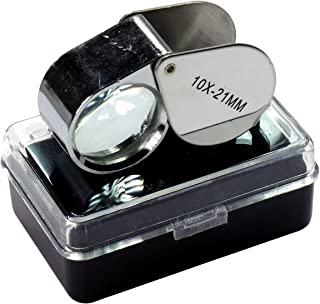 HTS 202A0 10x 21mm Stainless Steel Jeweler's Singlet Loupe