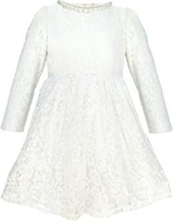 de6b21af80b QQBBGL Big Girls White Lace Cotton Wedding Dress Little Kids Spring Casual  Skirts