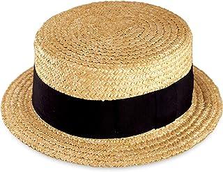 (田中帽子店)鬼麦カンカン帽(紳士用) (帽子 麦わら帽子 ストローハット 麦 春 夏 太麦 リボン 和風 小物 ギフト 誕生日 プレゼント 男性 日本製 国産 退職 父の日)UK-H048