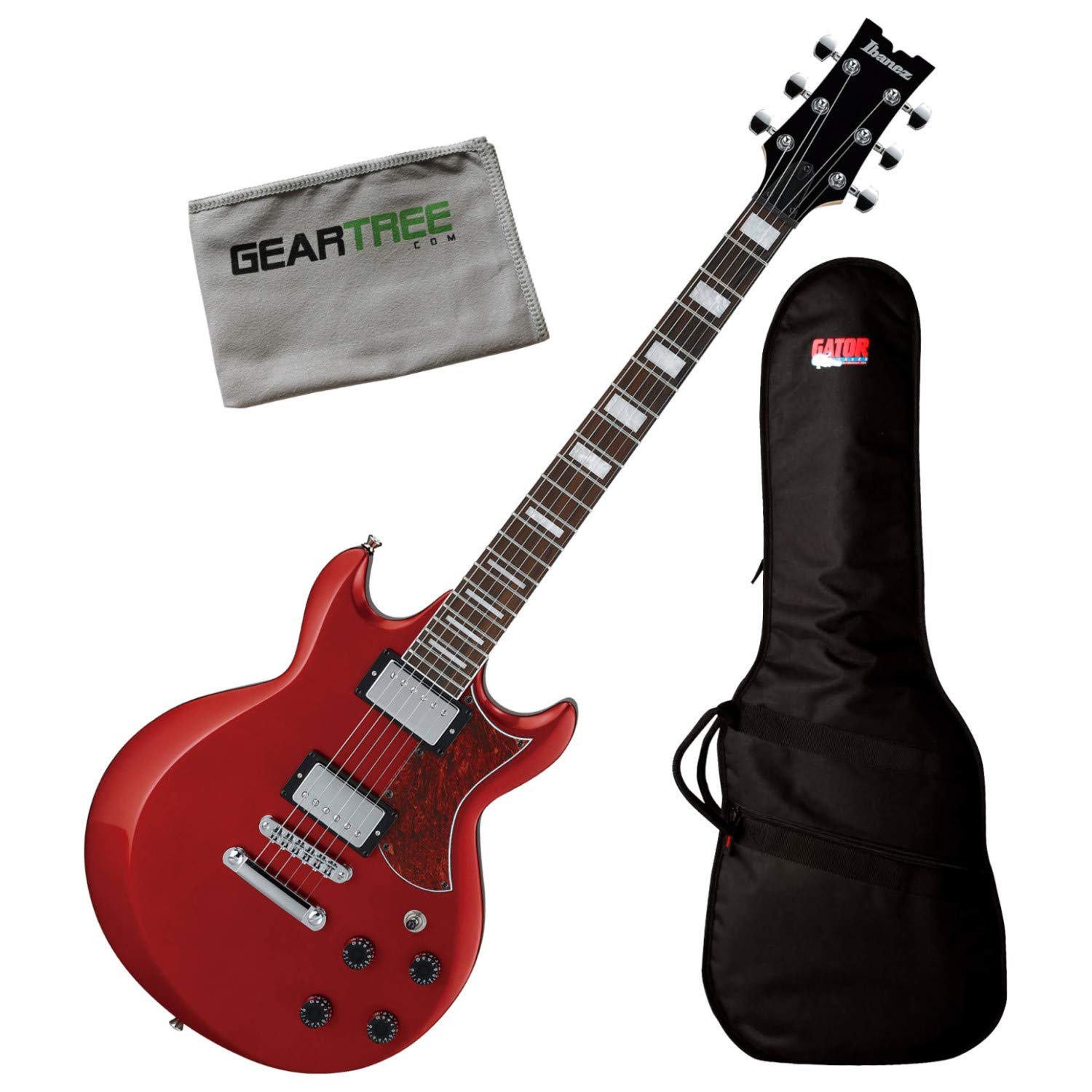 Cheap Ibanez AX120 CA Candy Apple AX Standard Electric Guitar Bundle w/Bag and Cloth Black Friday & Cyber Monday 2019