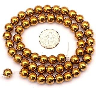 6mm Round Golden Hematite Gemstone Loose Beads for DIY Jewelry Making 15