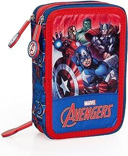 The Avengers 66324 Astuccio Triplo Riempito, 44 Accessori Scuola, 20 Centimetri