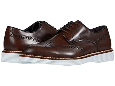 J&M Collection Casteel Wing Tip (Mahogany) Men