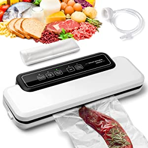 Food Saver Vacuum Sealer Machine, for Food Preservation Starter Kit 60Kpa Vacuum Air Sealing System For Food Savers.Dry Moist Food Modes.Safety Certified,Gifts for Mom Wife,Easy to Operate the