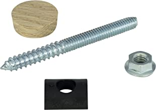 Rail Bolt Kit - Includes 3⅜'' x 5/16'' Bolt, Flange Nut, Plastic Curved Washer, and Wood Plug