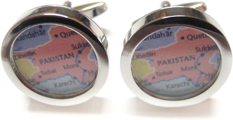 Pakistan Map Cufflinks