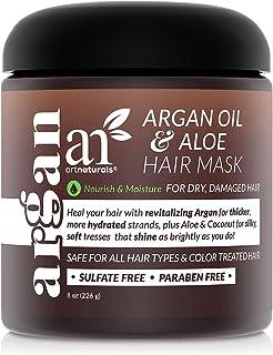 ArtNaturals Argan Oil Hair Mask - (8 Oz/226g) - Deep Conditioner - pure Organic Jojoba Oil, Aloe Vera & Keratin - Repair D...