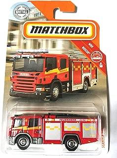 Matchbox 2019 MBX Rescue Scania P 360 (Fire Engine) 56/125, Red
