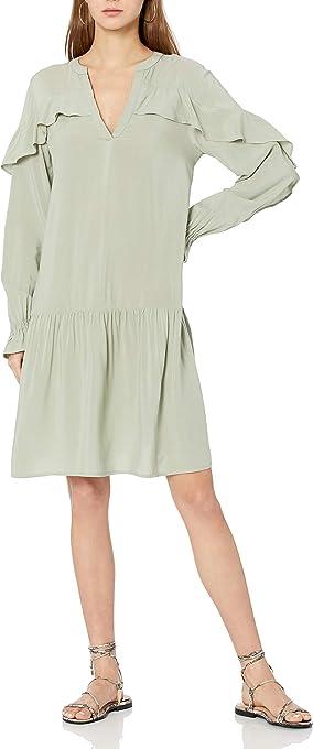 The Drop Women's Emerson Romantic Ruffle Drop Waist Dress