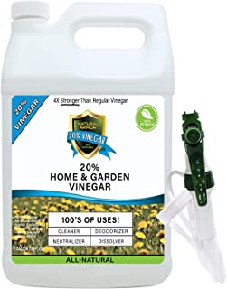 20% Vinegar Pure Natural & Safe Industrial Strength Concentrate for Home & Garden & Literally Hundreds of Other Uses (1-128 OZ Gallon) 4X Stronger Than Regular Vinegar