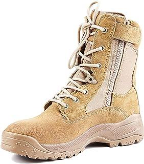 RENHONG pour des Hommes Trekking et randonnée Bottes Desert Botte d'armée Militaire légère Bottes de Combat de la Formatio...