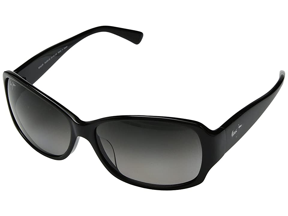 Maui Jim Nalani (Gloss Black/Neutral Grey) Polarized Sport Sunglasses