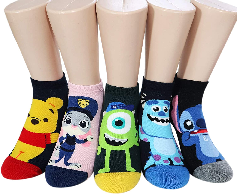 Character Cartoon Series Women's Original Socks (Po Jelly_5pairs)