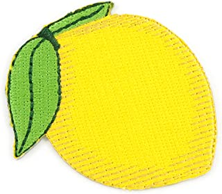 Winks For Days Lemon Emoji Embroidered Iron-On Patch