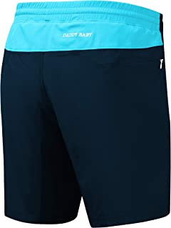 Men's Casual Gym Shorts with Built-in Underwear and Zipper Pockets