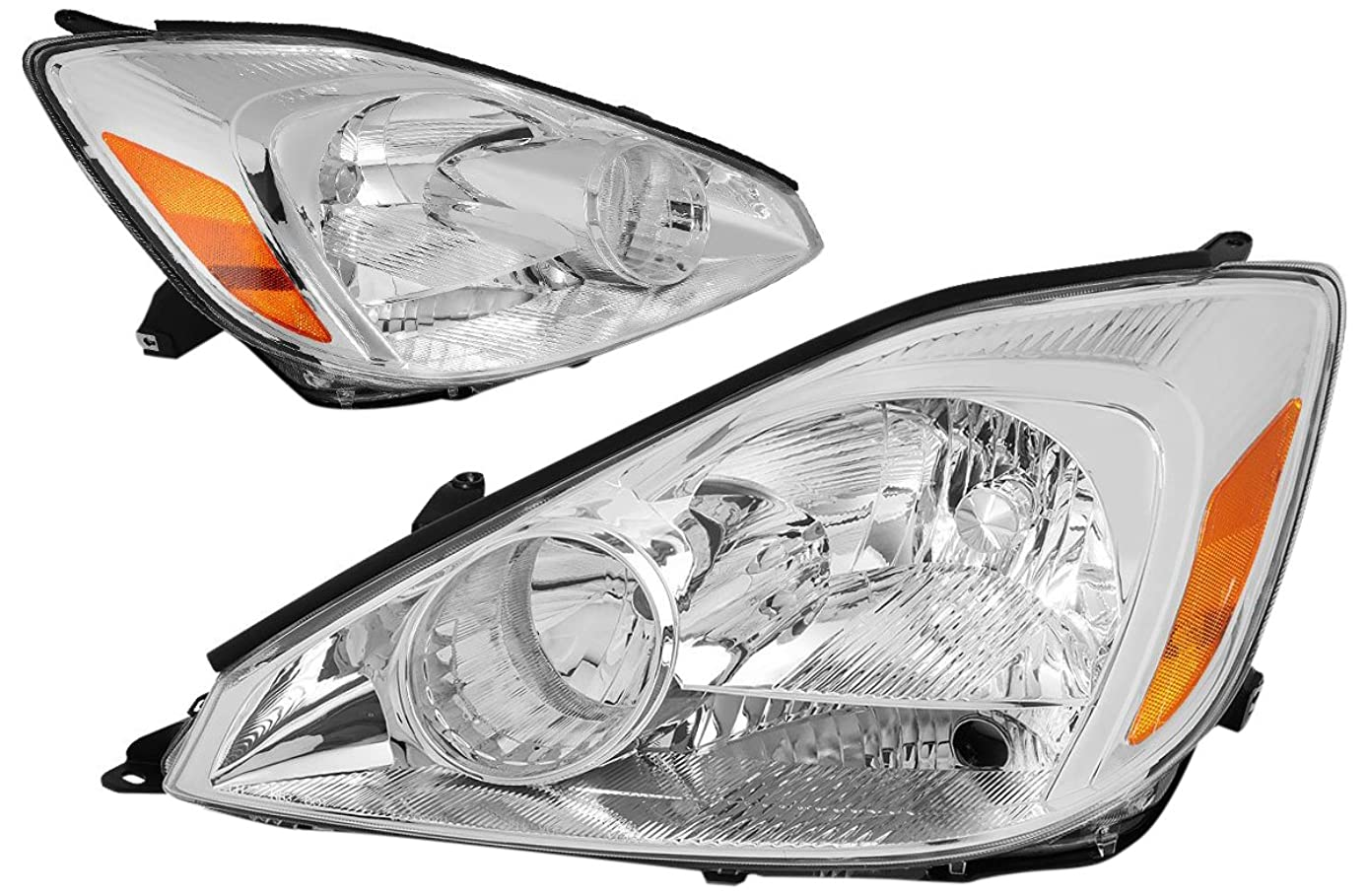 DNA MOTORING HL-OH-103-CH-AM Headlight Assembly Driver And Passenger Side