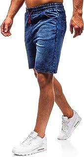 Hombre Pantalón Corto Pantalones Vaqueros Denim Regular Pantalón de Algodón Pantalón Deportivo Estilo Casual 7G7