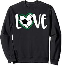 Cute Soccer Love - Heart Soccer Ball - Soccer Player and Fan Sweatshirt