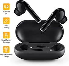 Bluetooth Earbuds, Wireless Headphones Bluetooth V5.0, Auto Pairing Mini Earbuds with Mic, HD Stereo in-Ear Noise Canceling Headphones with Charger Case, Bluetooth Earphones for Android iOS Windows