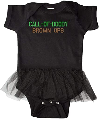 Brown Ops Newborn Layette inktastic Call of Doody
