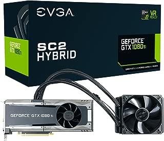 EVGA GeForce GTX 1080 Ti SC2 Hybrid Gaming, 11GB GDDR5X, iCX Technology - 9 Thermal Sensors Graphics Card 11G-P4-6598-KR