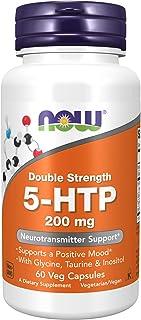 ناو فوودز، كبسولات 5-HTP، قوة مضاعفة، تركيز 200 ملغم، 60 كبسولة نباتية