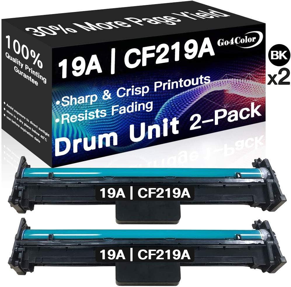 Go4Color 2-Pack Compatible Imaging Drum Unit Replacement for HP 19A CF219A, Work with HP Pro M130nw M130a M130fw M130fn M104a M104w M132nw M132fn M132fw M102w M102a Printer