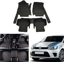 OREALTECH 3D Alfombrillas Coche de Cobertura Completa Impermeable para Todo Clima Conductor Izquierdo Cuero XPE para VW Polo 2011-2018