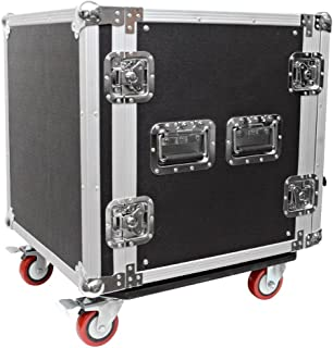 Seismic Audio - 12 SPACE RACK CASE for Amp Effect Mixer PA DJ PRO with Casters