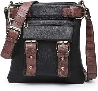 Women Lightweight Crossbody Bags Soft Vegan Leather Messenger Bag Shoulder Bag Travel Purse