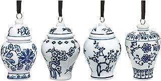 Bandwagon Mini Ginger Jar Ornaments, Set of 4 Porcelain Hanging Ornaments