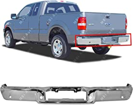 MBI AUTO - Chrome, Steel Rear Step Bumper Face Bar for 2004 2005 Ford F150 Pickup W/Park 04-05, FO1102348
