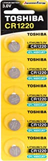 Toshiba CR1220 3V Lithium Coin Cell Battery Pack of 5