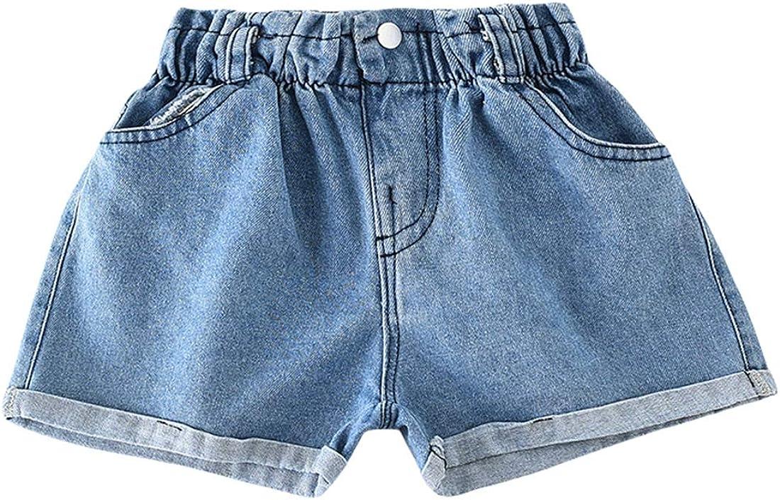 Qiribati Girl's Denim Shorts Summer Finally popular brand Folded Jean New sales Hem Jeans